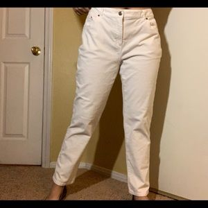 Ruby Rd. White Corduroy Jeans